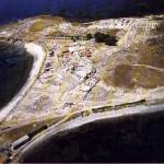 Nora- Capo di Pula (CA). Veduta della città romana.