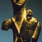 loc. sconosciuta. Bronzetto figurato frammentario di produzione locale di Aristeo (?). Veduta frontale.