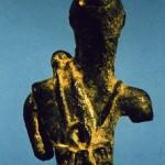 loc. sconosciuta. Bronzetto figurato frammentario di produzione locale di Aristeo (?). Veduta posteriore.
