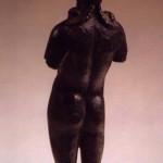 loc. Medde -Oliena (NU). Bronzetto romano di Aristeo (II-III sec. d.C.). Veduta posteriore.