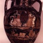 Tharros - Cabras (OR). Anfora attica del Pittore di Timiades (570-560 a.C.).