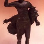 Posada (NU). Statuetta bronzea di stile italico raffigurante Ercole (IV sec. a.C.).
