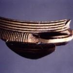 S. Imbenia-Alghero (SS). Framm. di uno skyphos protocorinzio di fattura greca(fine VIII sec. a.C.).