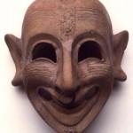 S. Sperate (CA). maschera maschile apotropaica ghignante di età punica (V sec. a.C.).