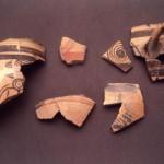 Antigori - Sarroch. Vasellame dipinto di produzione micenea di provenienza argolide, cretese e cipriota. (Mic. IIIb e IIIc 1300-1050 a.C.).