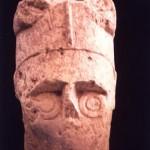 Monte Prama - Cabras (OR). Testa di guerriero (VII sec. a.C.).