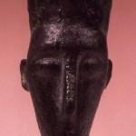 Decimoputzu (CA). Bronzetto figurato di Sardus Pater (?) (VII sec. a.C.).