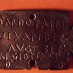 Antas - Fluminimaggiore (CA). Piccola tabella bronzea di carattere votivo con dedica al Sardus pater (III sec. d.C.).