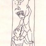 Rasoio punico con raffigurazione di Sid